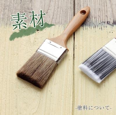 素材 塗料について