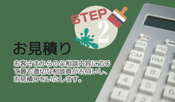 STEP2:ご相談内容に応じて最適なお見積りを致します。