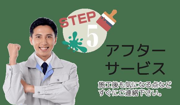 STEP5:施工後も気になる点をご連絡下さい。